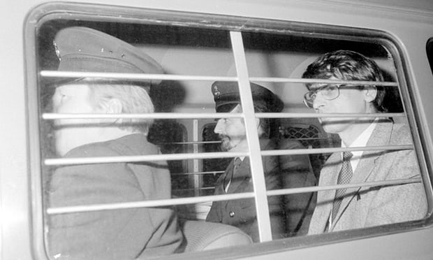 Dennis Nilsen on route to prison from his 1983 trial